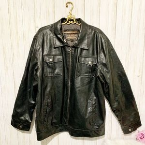 Arizona Men's Black Vegan Leather Jacket Size XL